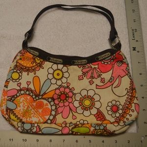 Le Sportsac Whimsical Floral Print Small Purse